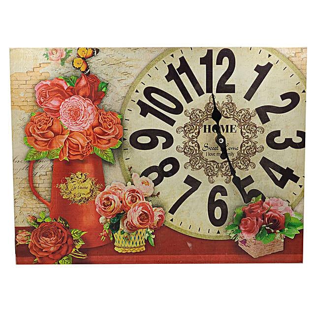 Painted Wall Clock:Wall Clocks