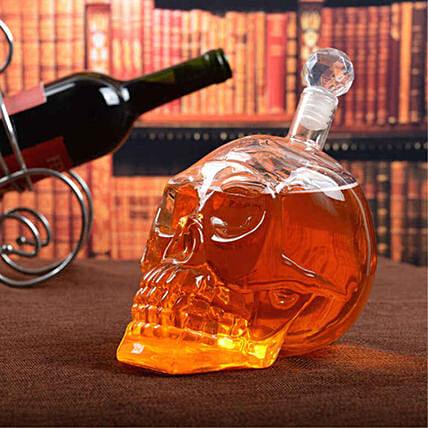 Scarily Cool Skull Shaped Glass Decanter 1000 ml
