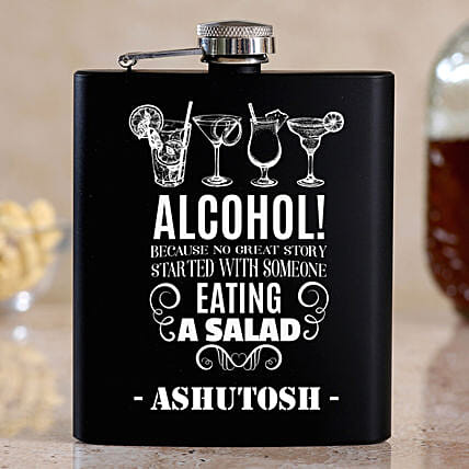 Cool Personalised Stainless Steel Hip Flask:Bar Accessories For Dad