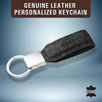 Personalised Leather Key Chain