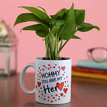 Money Plant In Mommy You Are My Heart Mug