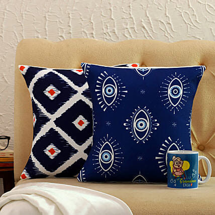 Happy Mother Day Cushion Covers And Printed Mug Combo