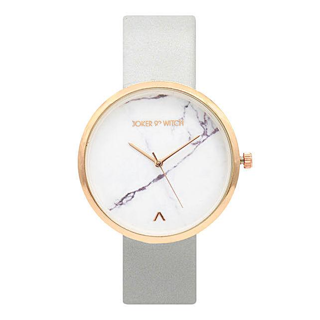 Buy Online Grey Marble Dial Watch