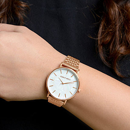 Nebula White Dial Rosegold Watch Online Mothers Day