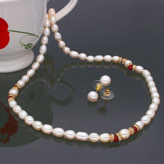 Navishka One Line  Pearl set:Jewellery Gifts