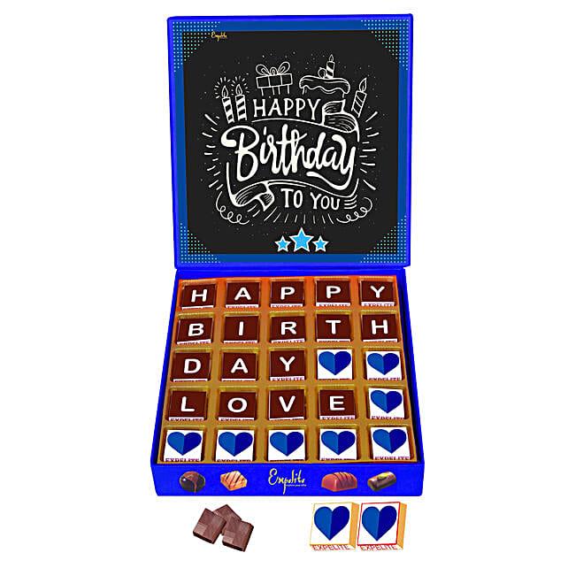 Happy Birthday My Love Personalised Chocolate Box 25 Pcs