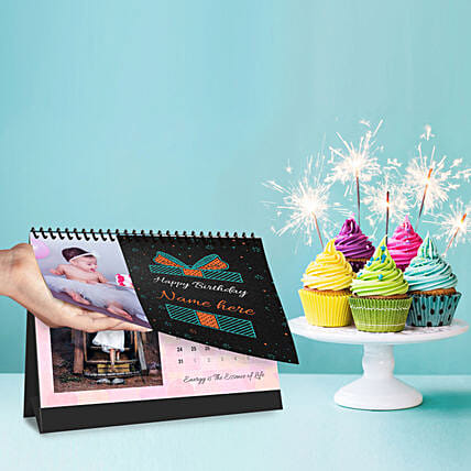 Personalised Birthday Vibes Calendar:Thank You Photo Frames
