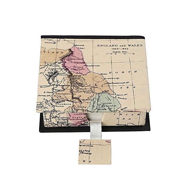 Multicoloured World Map Vintage Memo Pad