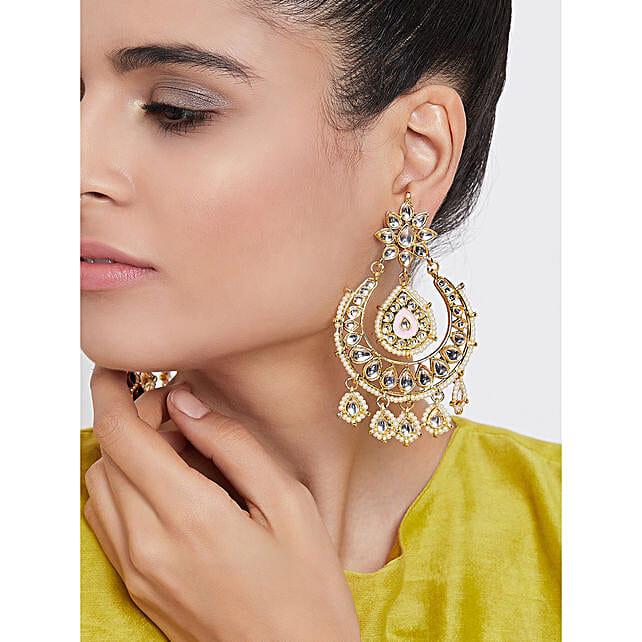 Special Kundan Dangle Earrings