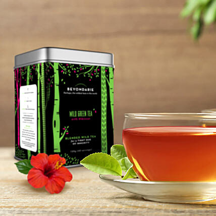 Wild Tribe Green Tea With Hibiscus 100 Gms