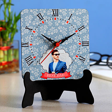 Personalised Best Dad Table Clock- Hand Delivery:Customized Fathers Day Gifts