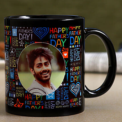 Personalised Father's Day Black Mug- Hand Delivery