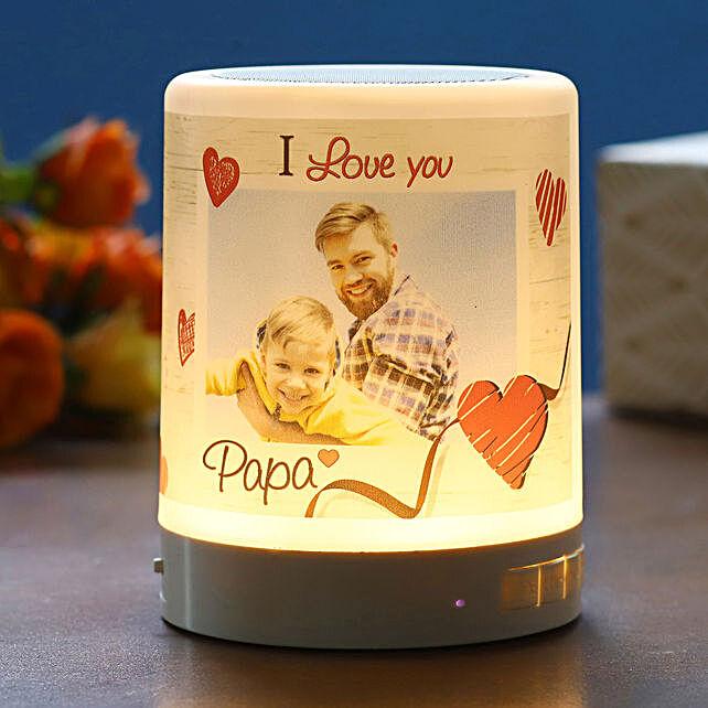 Personalised I Love You Papa Bluetooth LED Speaker