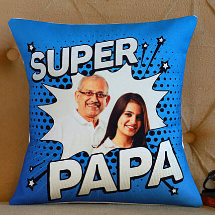 Personalised Super Papa Cushion- Hand Delivery:Customized Fathers Day Gifts