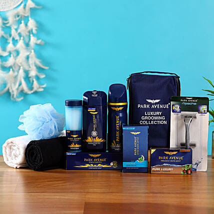 Combo of men grooming kit and towel