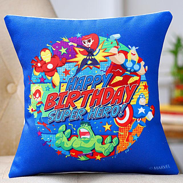 Birthday Superhero Cushion:Buy Cushions