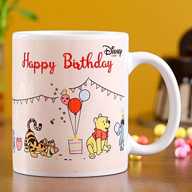 Disney Happy Birthday White Ceramic Mug