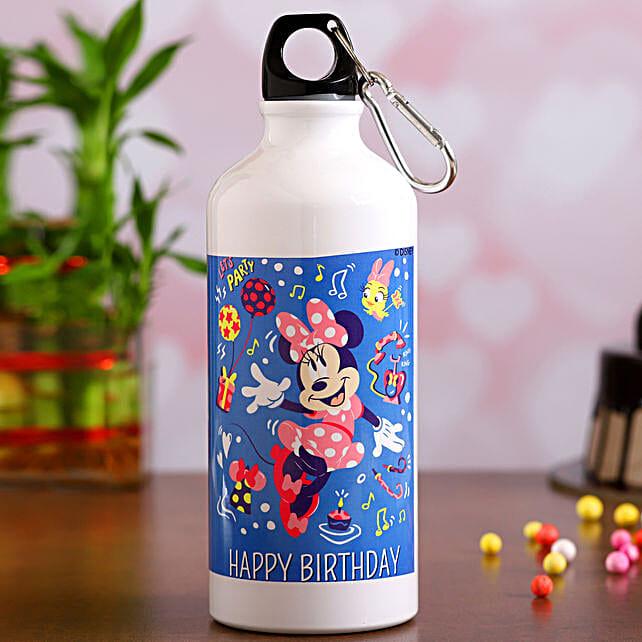 Disney Minnie Mouse Birthday Water Bottle