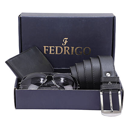 Happy Fathers Day Sunglasses And Watch With Belt Black:Belts