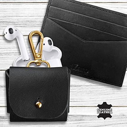 Earpod Pouch Leather Card Holder Fathers Day Combo:Accessories