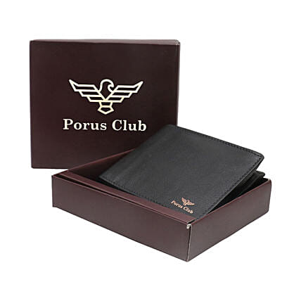 Fathers Day Black Leather Wallet