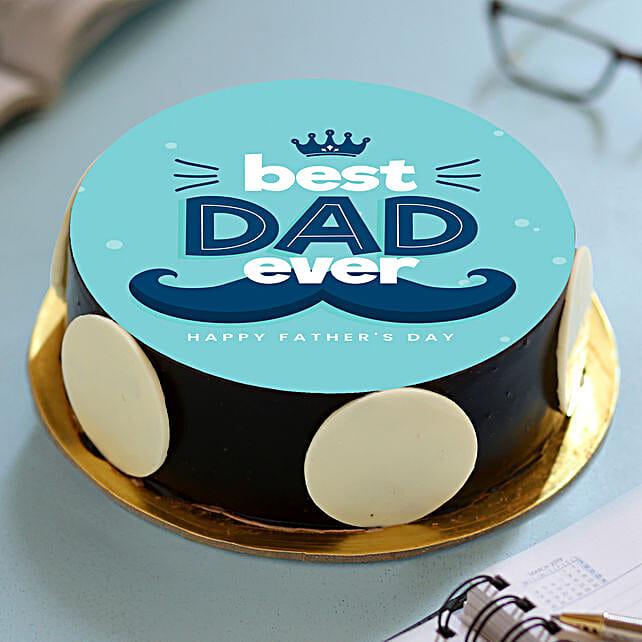 Best Dad Ever Photo Cake