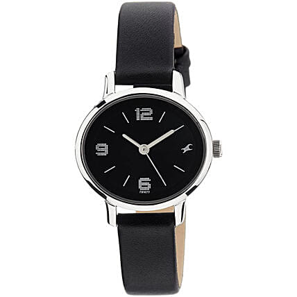 Fastrack Analog Black Dial Womens Watch:Watches