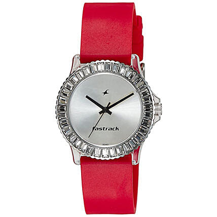 Fastrack Analog Red Strap Womens Watch:Watches