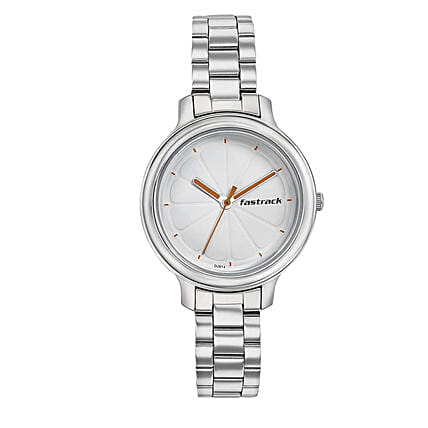 Fastrack Analog White Dial Womens Watch