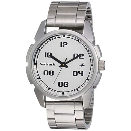 Fastrack Casual Analog Silver Strap Men Watch