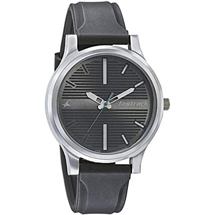 Fastrack Fundamentals Analog Silver Dial Mens Watch