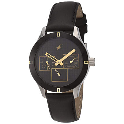 Fastrack Monochrome Analog Black Dial Womens Watch:Buy Watches