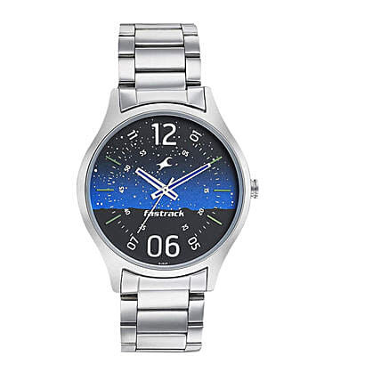 Fastrack Space Analog Blue Dial Mens Watch