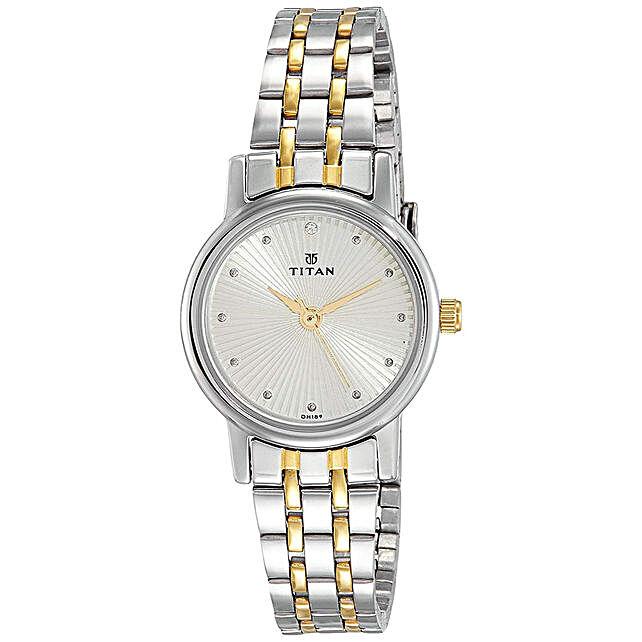Titan Analog Beige Round Dial Womens Watch:Buy Watches