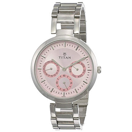 Titan Analog Pink Dial Womens Watch:Buy Watches