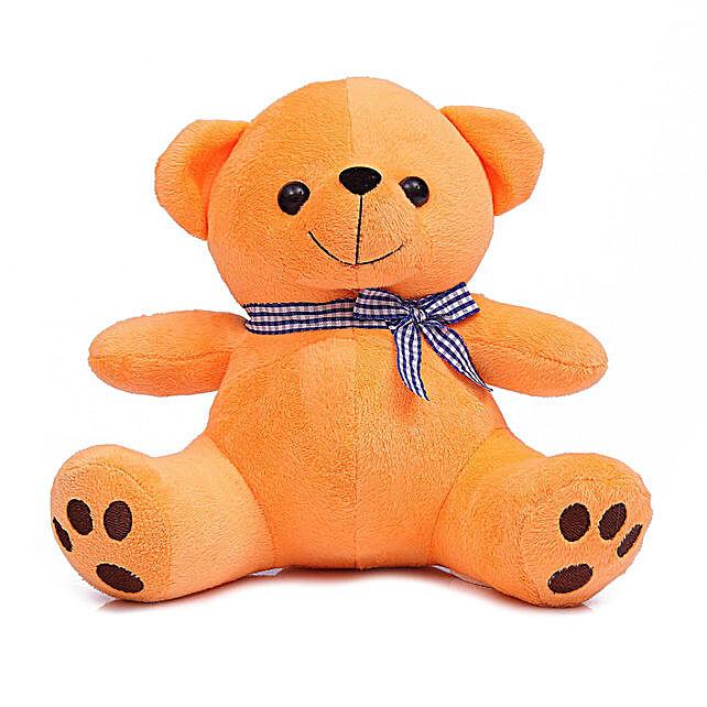 Cute & Cuddly Orange Poppy Teddy Bear