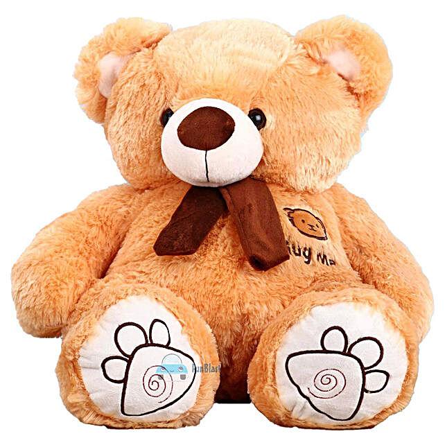 Hug Me Munchy Brown Teddy Bear With Bow:Teddy Bears