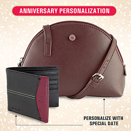 Personalised His & Her Special Sling-Wallet