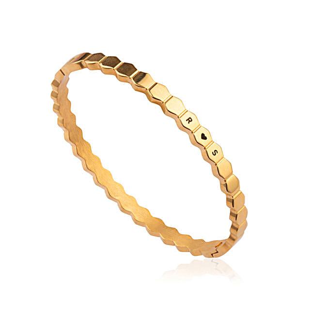 Personalised Golden Signature Bracelet For Women