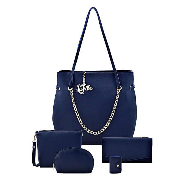 LaFille Fashionista Set of 5 Handbag