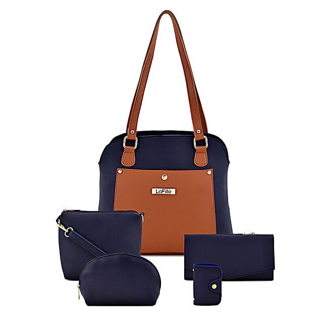 LaFille Iconic Set of 5 Handbags