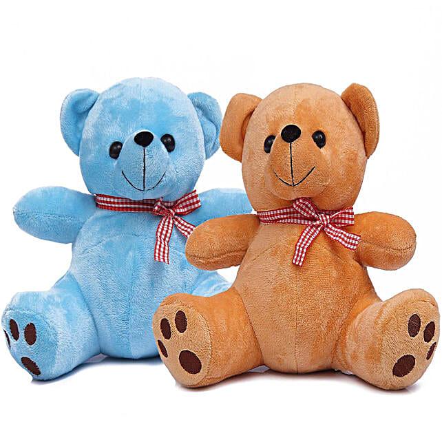 Poppy Teddy Bear Combo Blue Brown