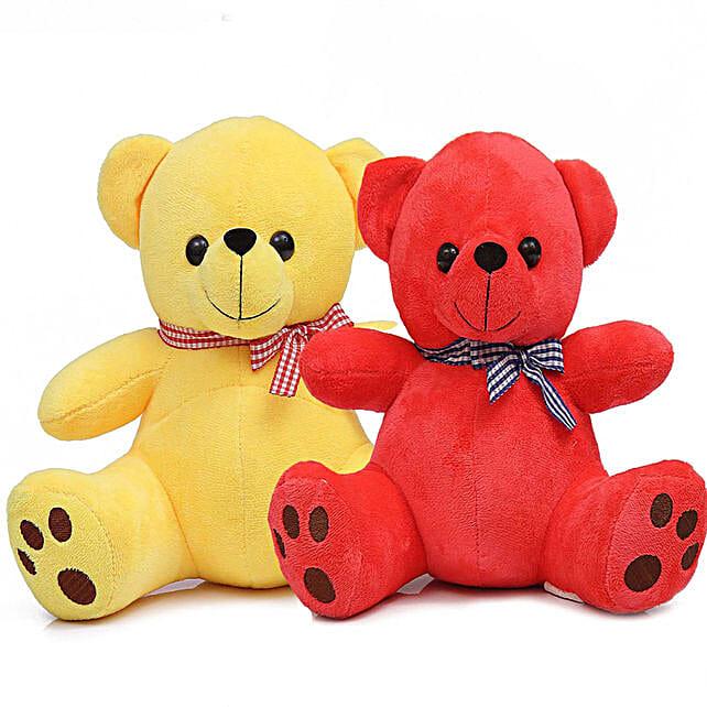 Poppy Teddy Bear Combo Yellow Red
