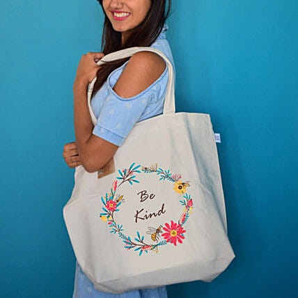 EcoRight Canvas Be Kind Tote Bag:Accessories for Her