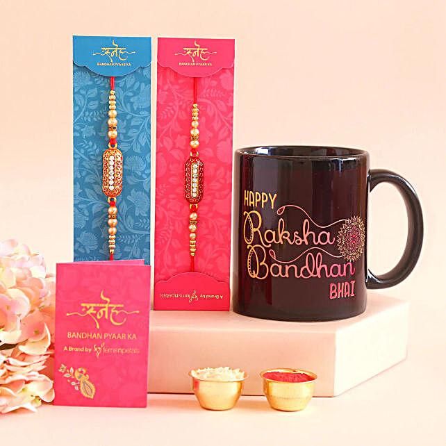 Capsule rakhi with Happy Raksha Bandhan Mug