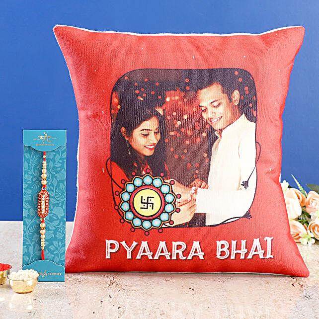 Personalised Pyaara Bhai Cushion n Capsule Rakhi
