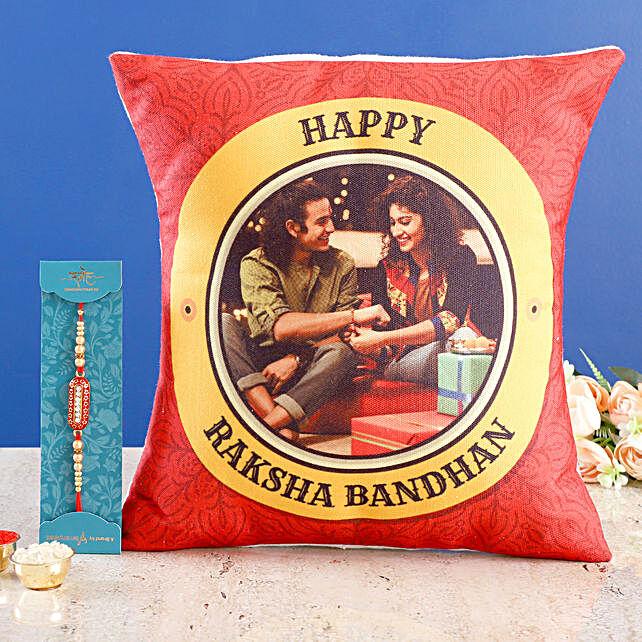 Personalised Raksha Bandhan Cushion n Capsule Rakhi