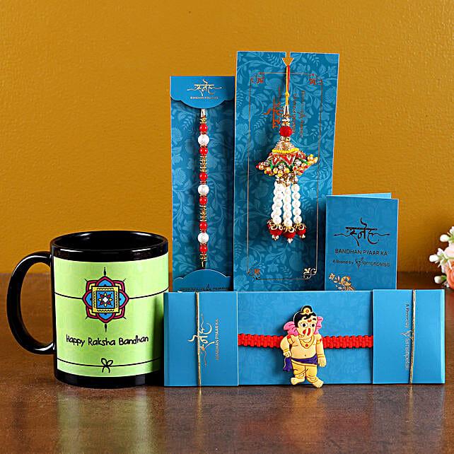 Set Of 3 Rakhis n Raksha Bandhan Mug