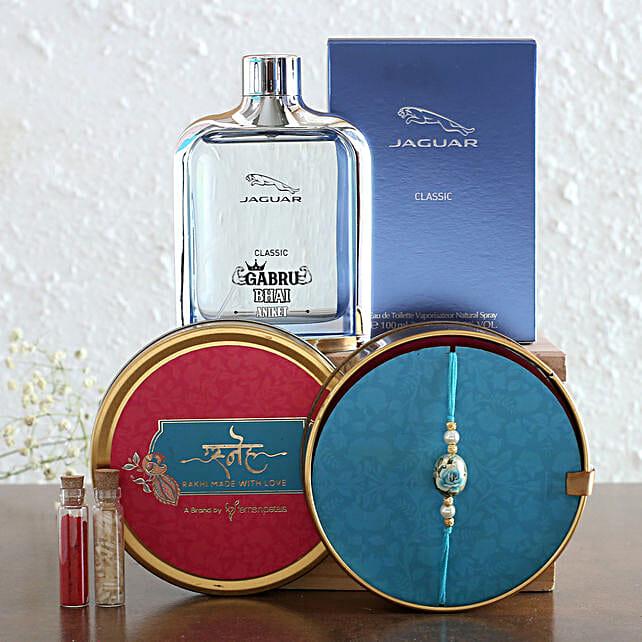 Personalised Jaguar EDT Perfume and Classy Rakhi