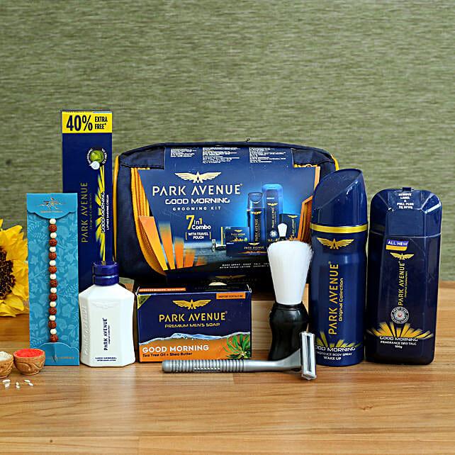 Rudraksha Rakhi & Park Avenue Grooming Kit